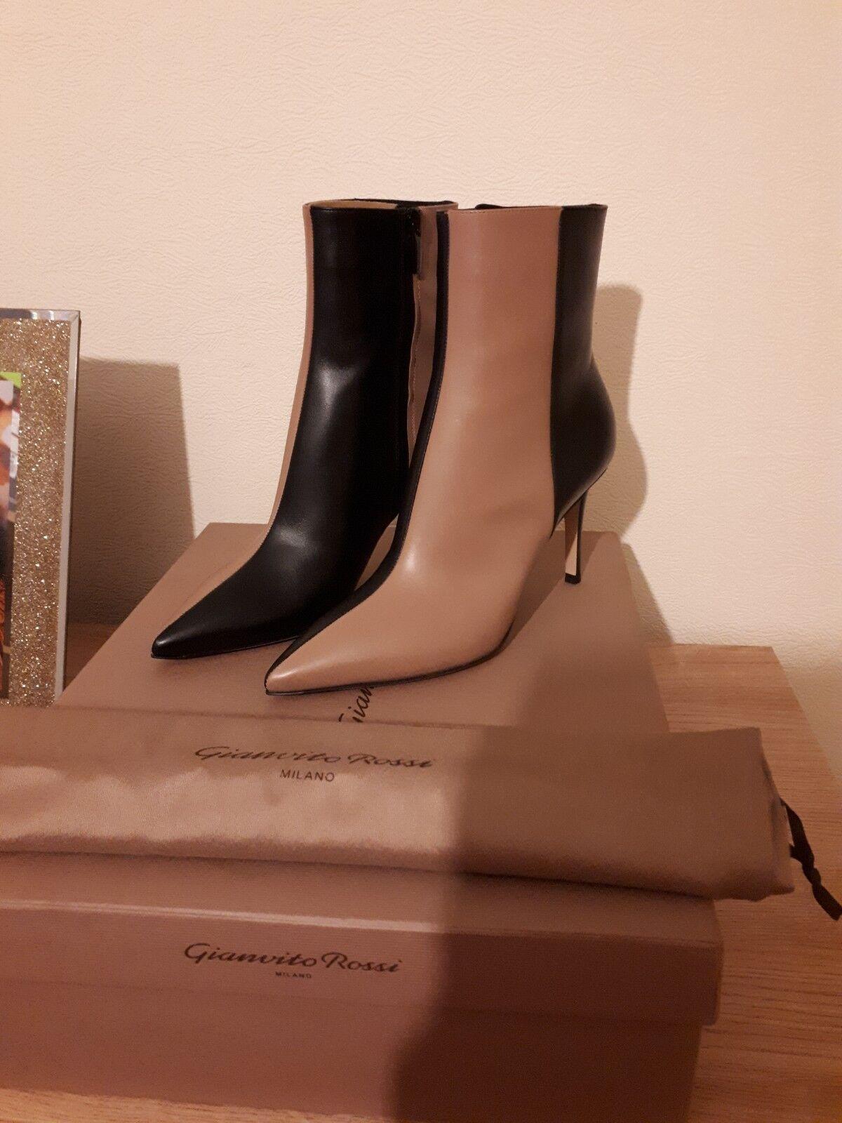 Gianvito Rossi Rossi Rossi Leather Ankle Stiefel Eu Größe 37, Uk Größe 4 59b524