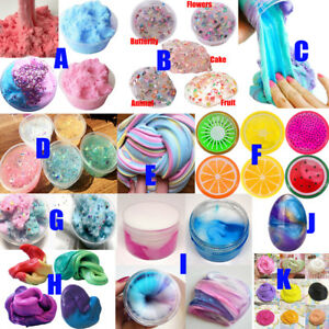 Au Fluffy Strechy Slimes Rainbow Pink Unicorn Floam Slime