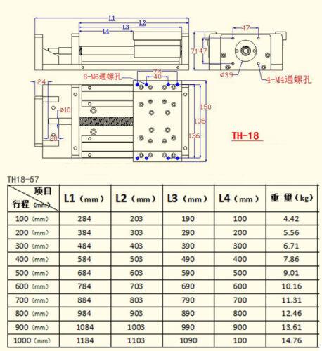 100mm-1000mm SBR Ballscrew Rail Precision Cross Slide Linear CNC Slide Stroke