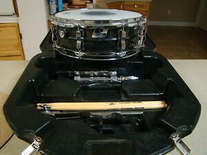 Ludwig-8-Lug-Acrolite-Black-Galaxy-Sparkle-Snare-Drum-14x5-w-Stand-Case