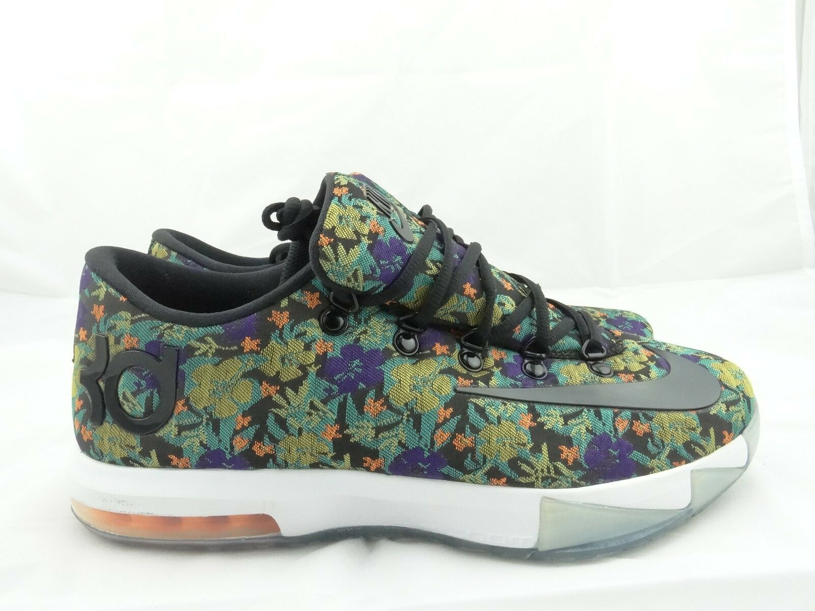 Sample Nike KD 6 FLORAL EXT QS  652120-900  Durant,  Nerf,  Weatherman, Galaxy