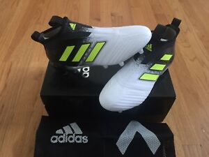 meet 46e29 b99b7 Image is loading Adidas-ACE-17-Purecontrol-FG-Soccer-Cleats-Black-