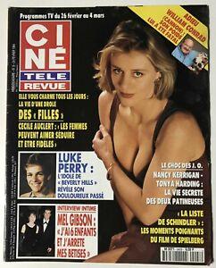 CINE-REVUE-8-1994-AUCLERT-TONYA-HARDING-LUKE-PERRY-JANE-SEYMOUR-F-GALL