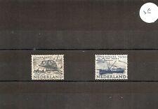 "Netherlands 1950 SG717/8 2v HM/Used ""Overijssl""-Canal freighter/Tugs-Bridge sect"