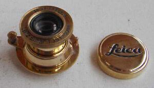 Leitz-Elmar-copy-3-5-50mm-GOLD-collapsible-lens-FED-Industar-copy-Leica-M39