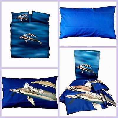 Copripiumino Blue Dolphins Delfino Copripiumone Completo Bassetti Natura Zucchi