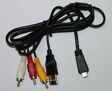 Sony VMC-MD3 USB+AV Multi-use Cable DSC-W570,DSC-W570/B,DSC-W570/V,W570/P Camera