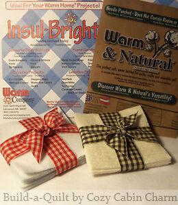 10-034-Potholder-Batting-Squares-Combo-Pack-6-Warm-amp-Natural-6-Insul-Bright