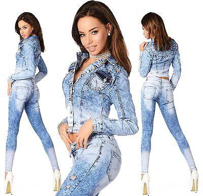 Marchio Di Tendenza Sexy Da Donna Elegante Giacca/lavaggio Corti Di Jeans Skinny Slim Vita Medio D 794-mostra Il Titolo Originale