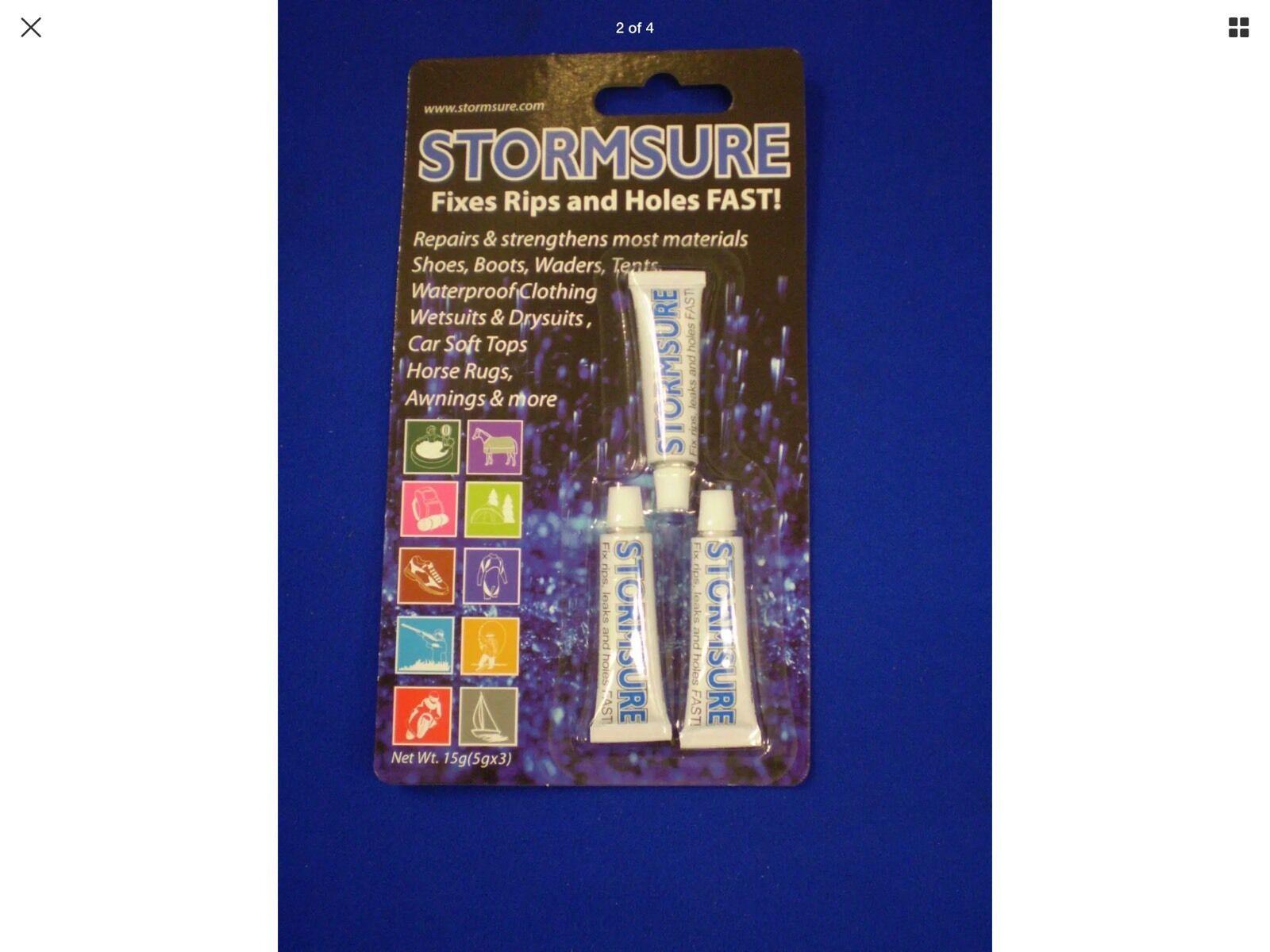 Stormsure Horse Rug Repair Kit OR 15gm Glue Tube Only Waterproof Kit