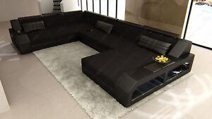 Wohnlandschaft Xxl Stoffsofa Designer Couchgarnitur Matera Led