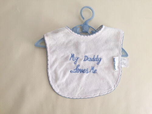 my grandma loves me my daddy dad loves me NEW Baby Boy//Girl embroidered Bibs