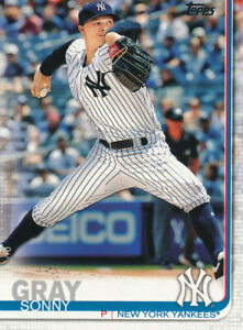 Sonny Gray 2019 Topps Series 1 #285 New York Yankees Cincinnati Reds