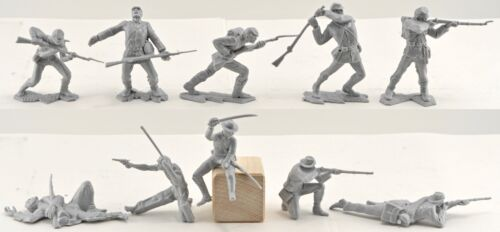 Infantry Ideal American Civil War C.S.A 60mm toy soldiers from original molds