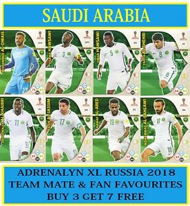 the latest eaa4a d1649 Details about Panini Adrenalyn XL FIFA World Cup 2018 Russia - Choose SAUDI  ARABIA team cards