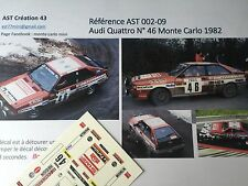 Decal 1 43 AUDI QUATTRO N°46 Rally WRC monte carlo 1982 montecarlo