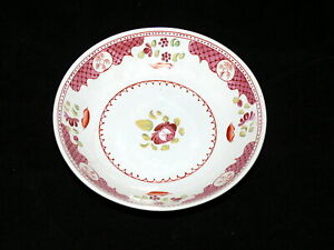 Antique-English-Pearlware-Welled-Rose-Saucer-Ca-1820