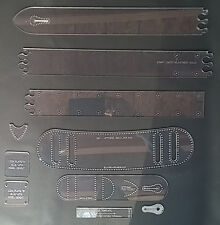 "2"" GUITAR STRAP TEMPLATE SET - MANY CUSTOMIZING OPTIONS  FOR LEATHER CRAFT - GSU"