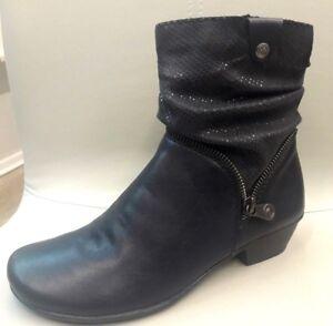 RIEKER Y0771 15 STIEFELETTEN Stiefel Ankle Boots Schuhe blau