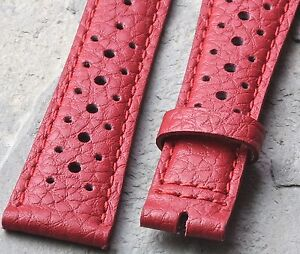 Red-20mm-vintage-rally-band-takes-16mm-buckle-bold-auto-racing-color-watch-strap