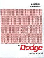 1966 66 Dodge Charger Supplement Shop Manual