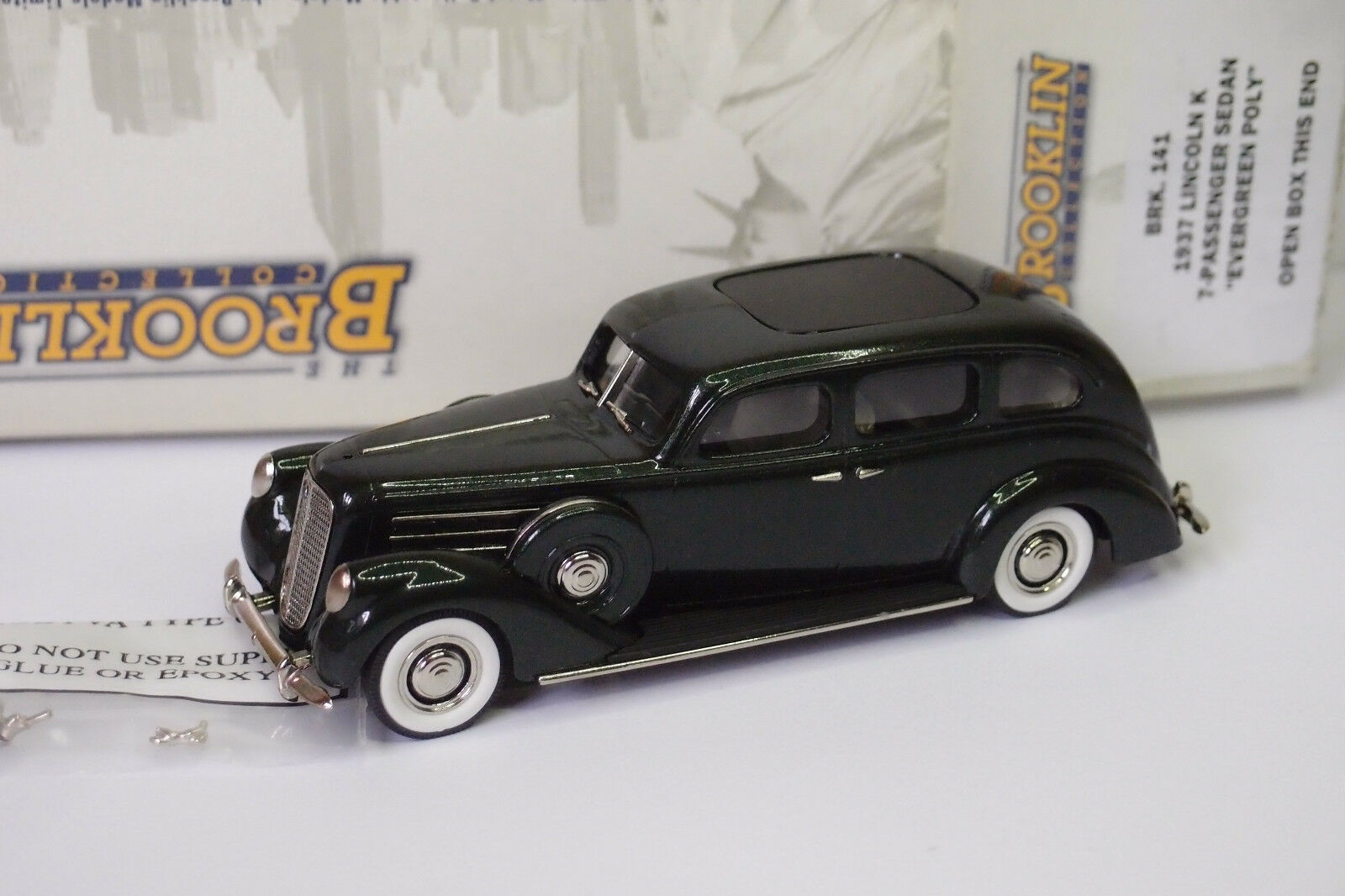 BROOKLIN BRK 141 1934 LINCOLN K 7 PASSENGERS SEDAN EVENvert POLY 1 43