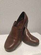 e72f74aad6 Dansko Beth Brown Leather Career Pumps Wedge Shoes Women Size 38 US 7.5  Slip On
