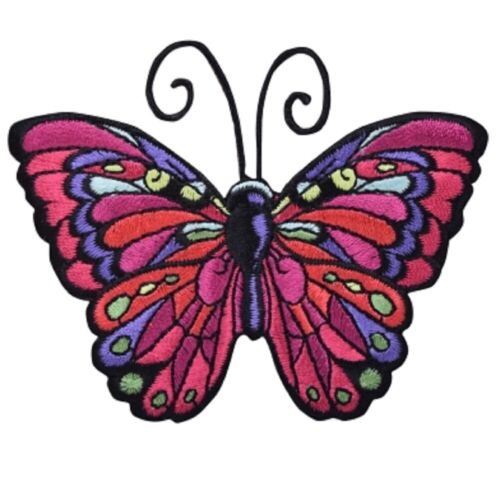 """Butterfly Applique Patch Antennae 3.5/"""" Insect Iron on Wings"""