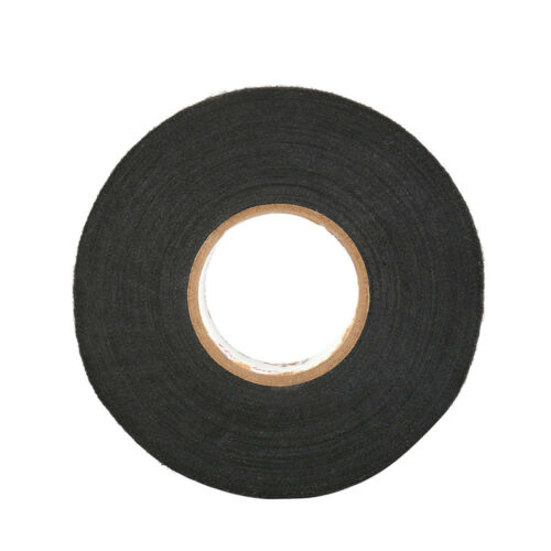 15m 25m ADHESIVE CLOTH FABRIC WIRING LOOM TAPE HARNESS Black 51608//51618 UK