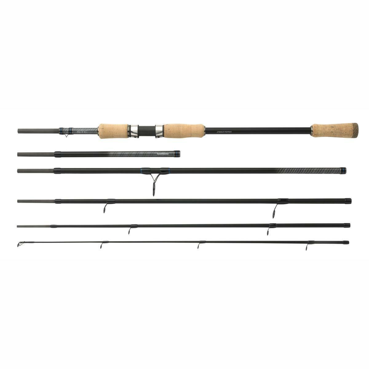Shimano STC 210 240l 3-14g   da Viaggio Multi Lunghezza Canna da Pesca