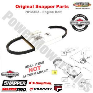 7012353yp genuine snapper engine belt for snapper walk behind rh cafr ebay ca