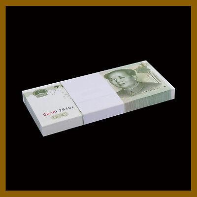100 NOTES CHINA 1 YUAN 1999 P 895 UNC  BUNDLE