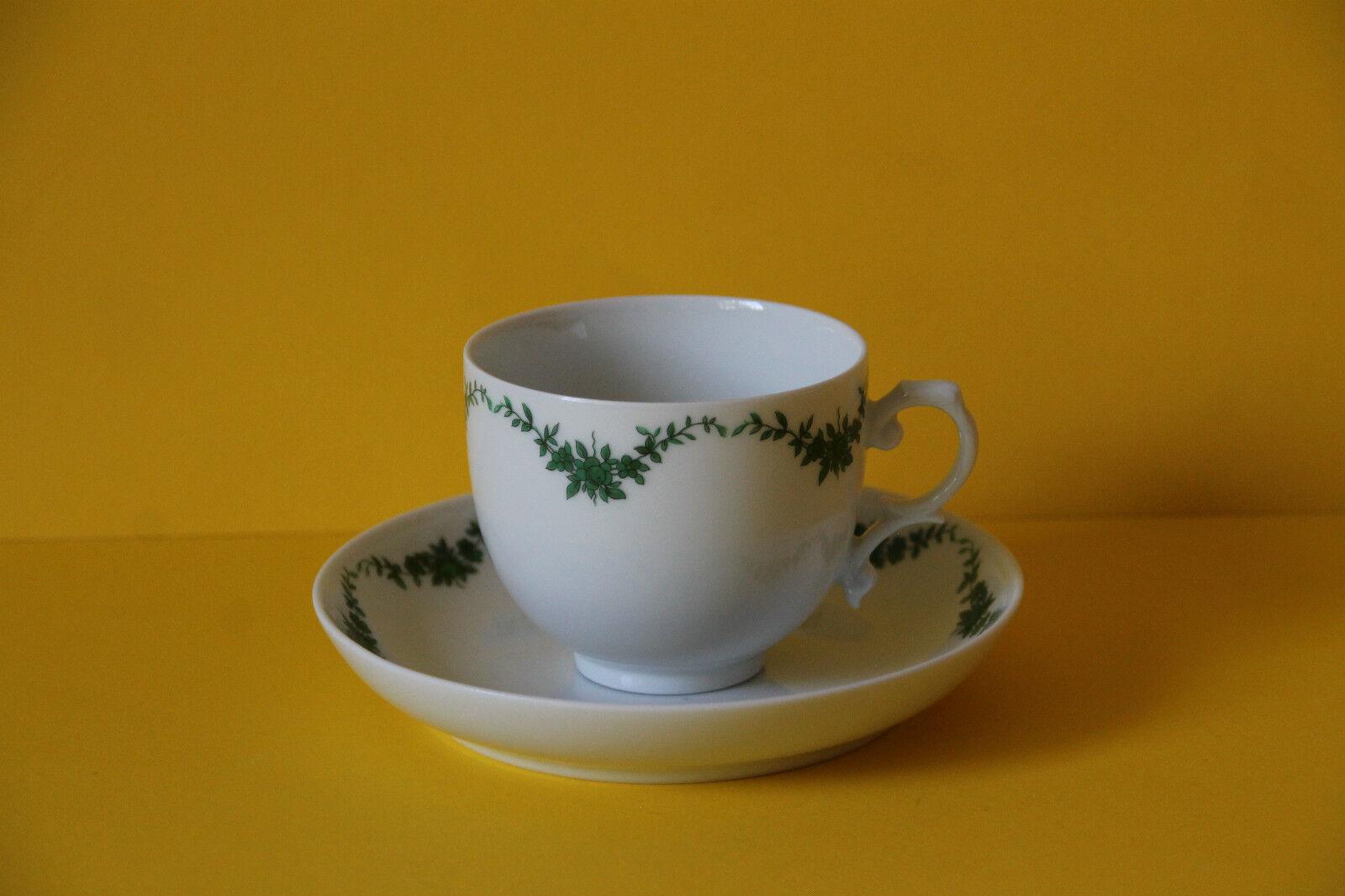 6 Fürstenberg Castello Giardino posto a tavola caffè tazza di caffè 6 coperti