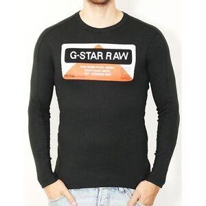 d0ac2145526 T shirt G star Homme manche Longue FISHER noir Taille S M L XL