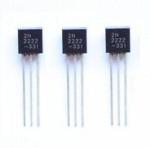 100Stks NEU NPN Transistor TO-92 2N2222A 2N2222