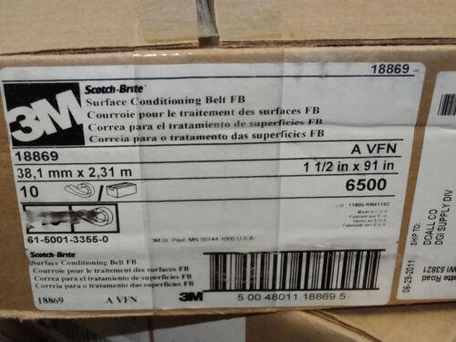 "10 new 3M Scotch-Brite 1-1//2/"" x 91/"" Surface Conditioning AO Belts FB A-VFN 18869"