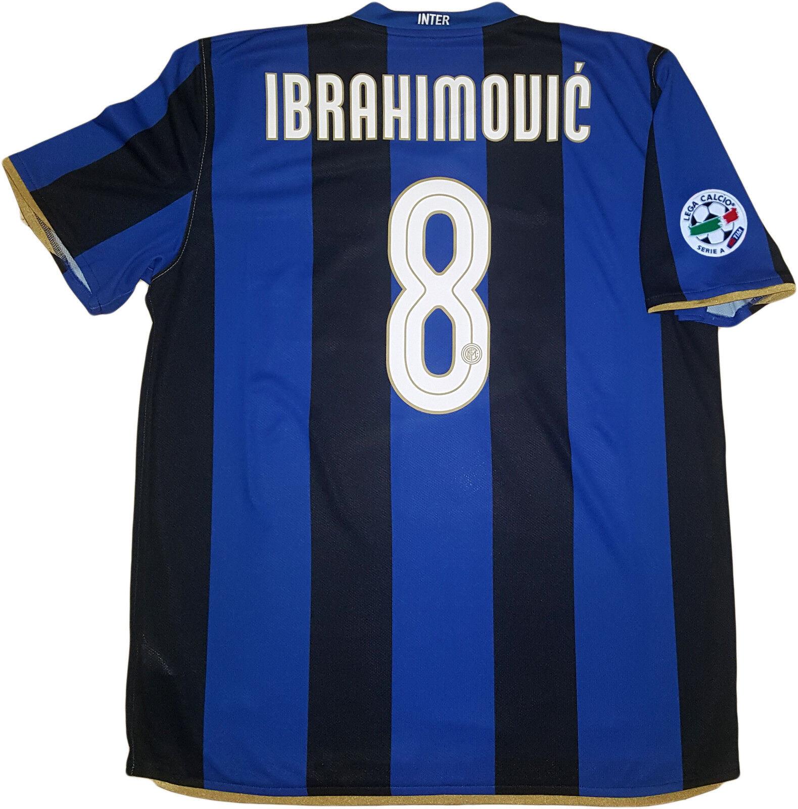 Ibrahimovic shirt maglia Inter 2008 2009 Home Jersey Nike Nike Nike XL Pirelli Scudetto 9e7bd6