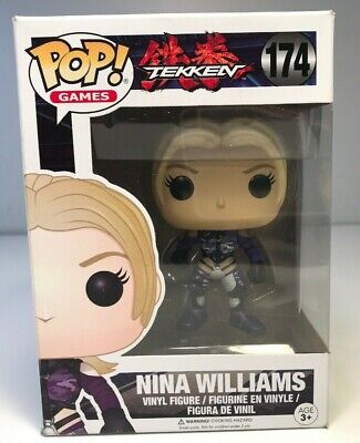 Tekken Nina Williams Silver Suit Exclusive Funko Vinyl Pop Games Figure #174
