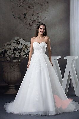 Fairy Tulle & Lace WEDDING Dress Bridal GOWN SIZE 18,20,22,24,26,28 WDH1-229