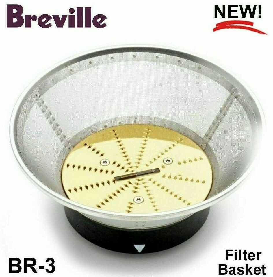 Breville Nutridisk - Filtre Panier BR-3 juice fountain 800JEXL BJE820XL Free Ship