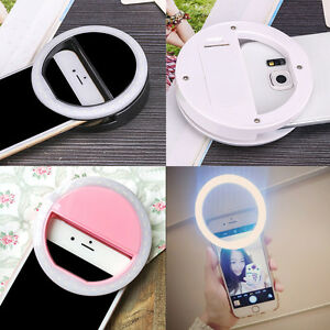 Luxury LED Light Up Selfie Luminous Phone Ring for Samsung for iPhone 6 6S Plus