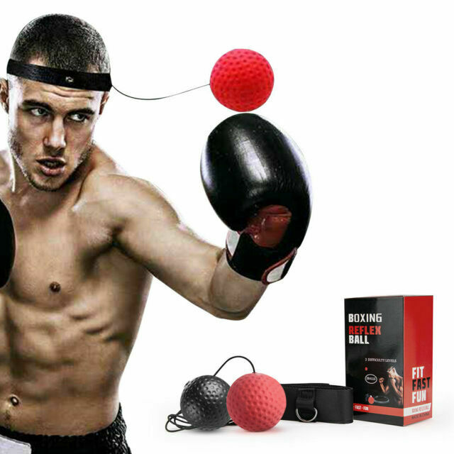 Sports Boxing Punch Exercise Fight Ball For Reflex Speed Training Kickboxing new