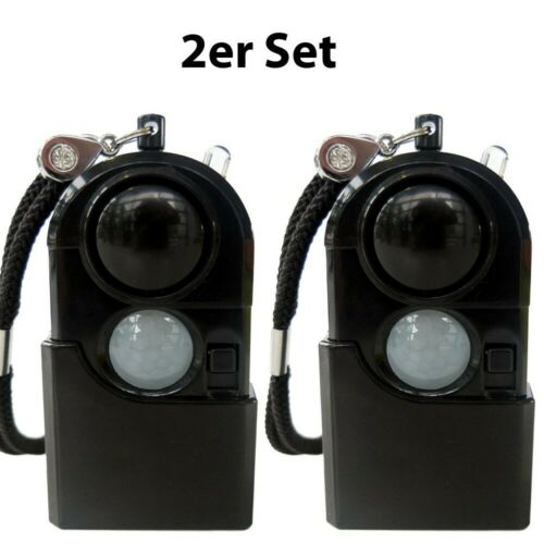 mobiler Mini Alarm und Bewegungssensor 2er Set Alarmanlage Taschenalarmanlage