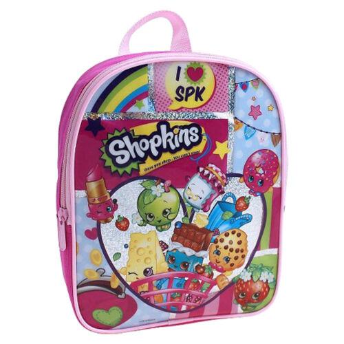 """NEW Shopkins I Love SPK 10/"""" Backpack Preschool Girls Kids Toddler School Bag 3"""