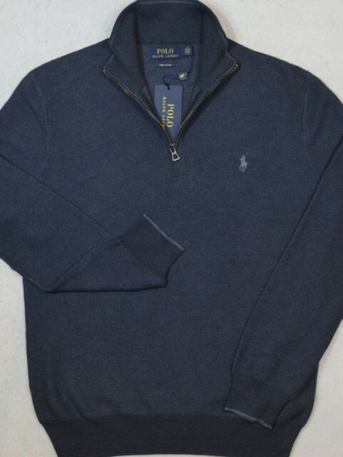 Polo Ralph Lauren Sweater Pima Cotton Half Zip Size S Small NWT $99