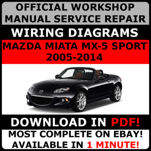 official workshop service repair manual for mazda mx 5 miata 2005 2001 Mazda MX-5 Miata image is loading official workshop service repair manual for mazda mx