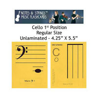 Cello 1st Position 4.25x5.5 Music Flashcards By N&s