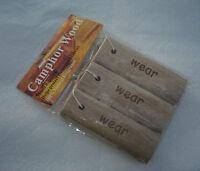 3 Camphor Wood Repellent Moth Sticks