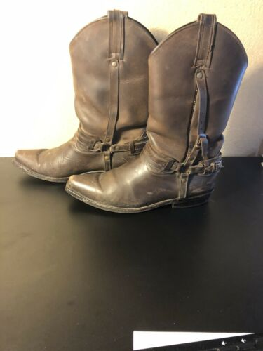 Mule-Oiled Skin Cowboy Boots, 8.5 USA