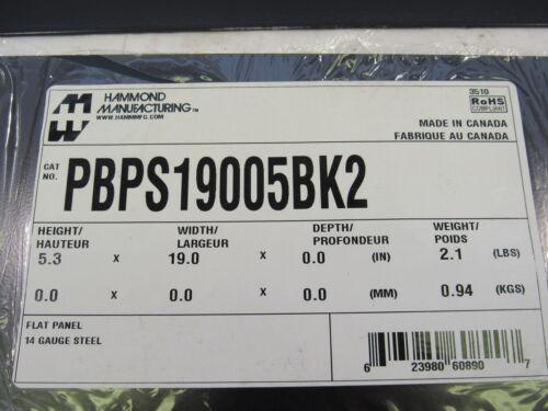 HAMMOND MANUFACTURING PBPS19005BK2 FLAT PANEL 14 GAUGE STEEL LOT OF 3 **NNB**